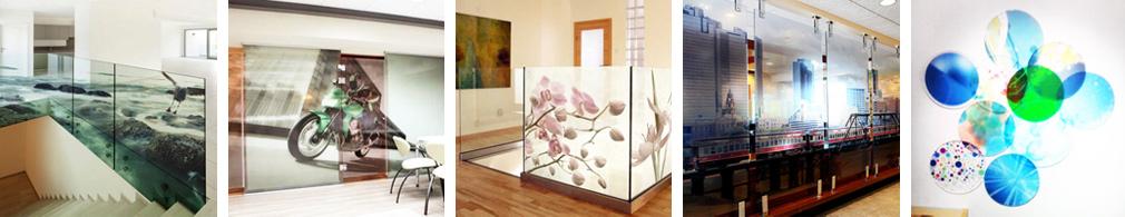 Bedruckte Glasbilder fuer moderne Wohnungen und Bueros