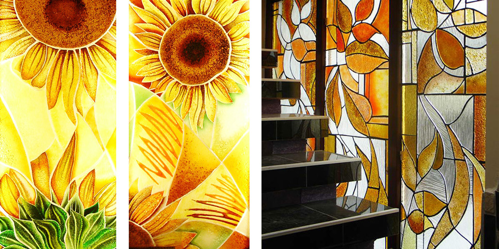 zafrane München Florale Glasbilder