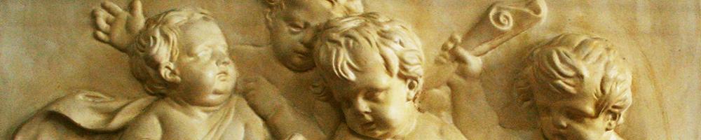 Gips Reliefs mit filigraner Ausarbeitung