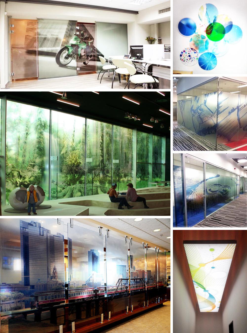 Glasbilder im gewerblichen Bereich