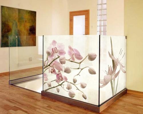 Bedrucktes Glas im Wohnbereich