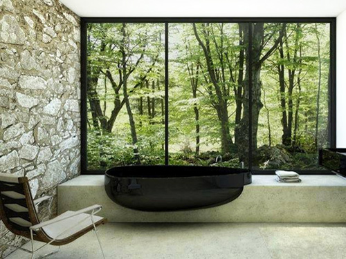 Badezimmer mit Glasdruck