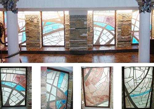 Moderne abstrakte Glaskunst