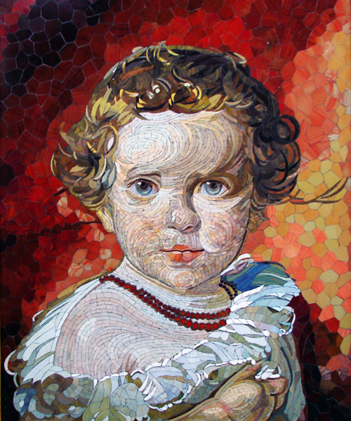Mosaik mit Kind
