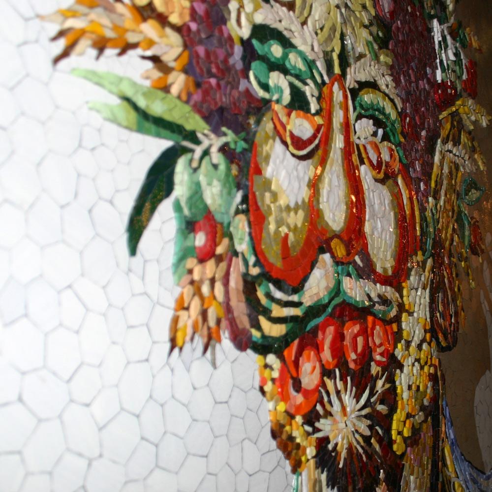 Giuseppe Arcimboldo Mosaik Seitenperspektive