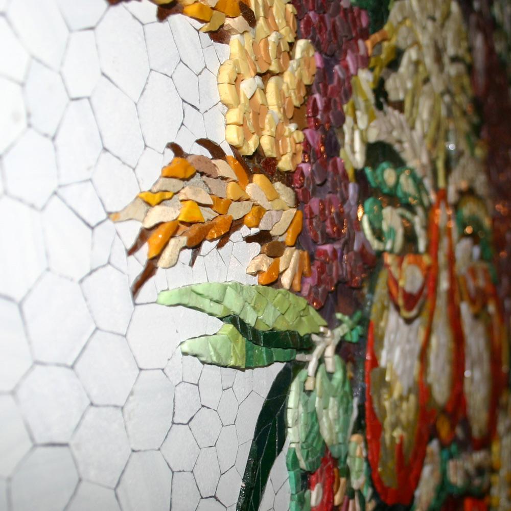 Giuseppe Arcimboldo Mosaik mit vielen einzelnen Steinchen