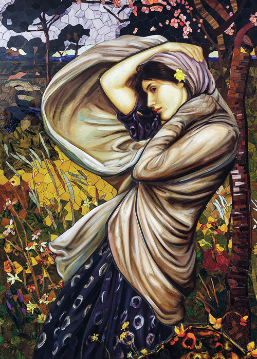 Mosaik nach William Waterhouse, Boreas