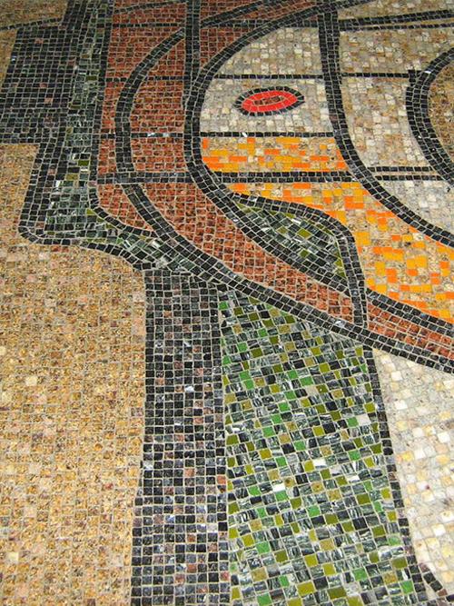 Moderner Mosaik Boden