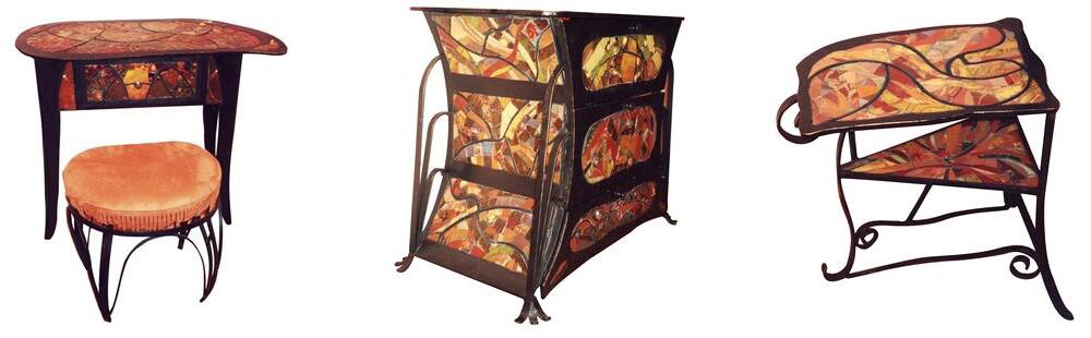 Möbel mit Mosaiken