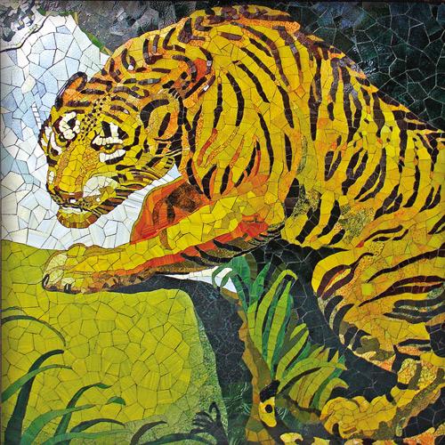 Mosaik mit Tiger