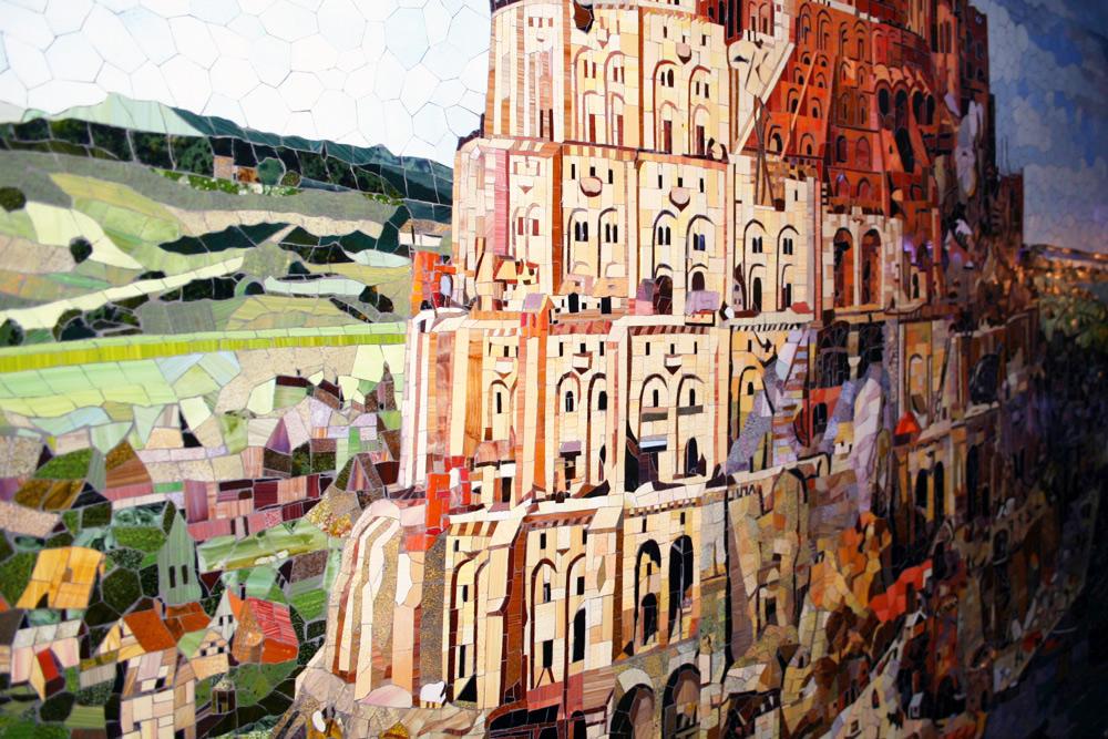 Mosaik Turmbau zu Babel