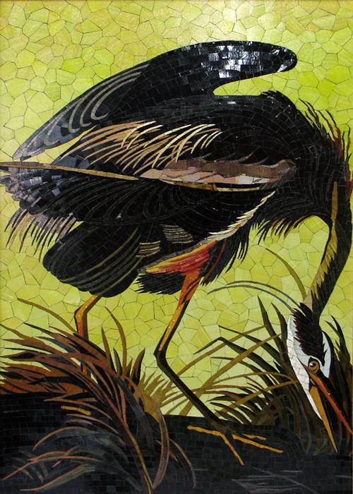 Mosaik mit Vogel