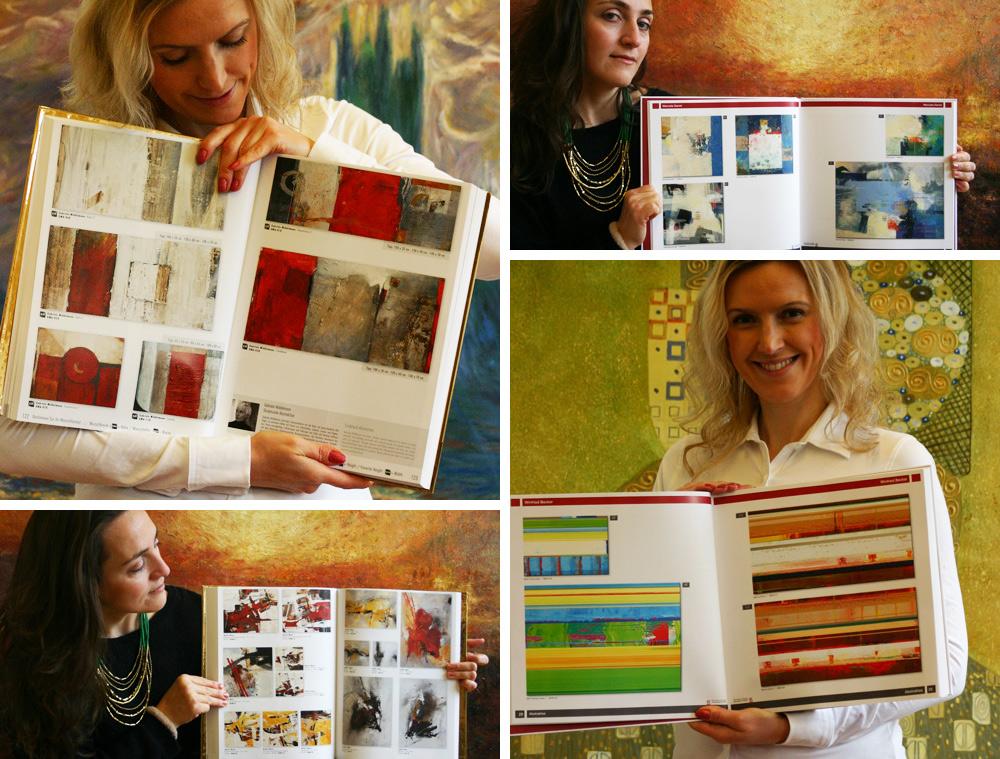 Kataloge mit abstrakten Motiven
