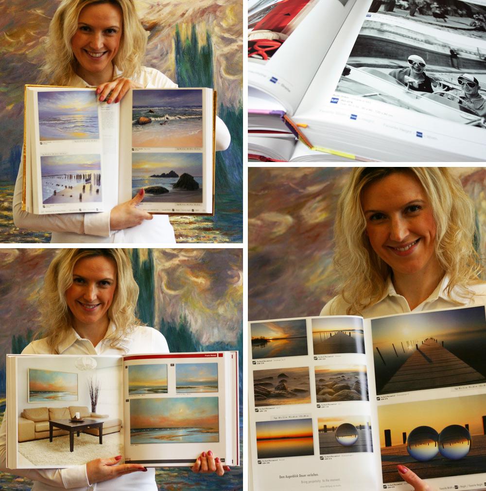 Kataloge mit Photographien von zafrane Muenchen