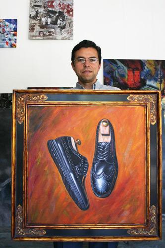 Auftragsmalerei für einen Schuhfabrikanten