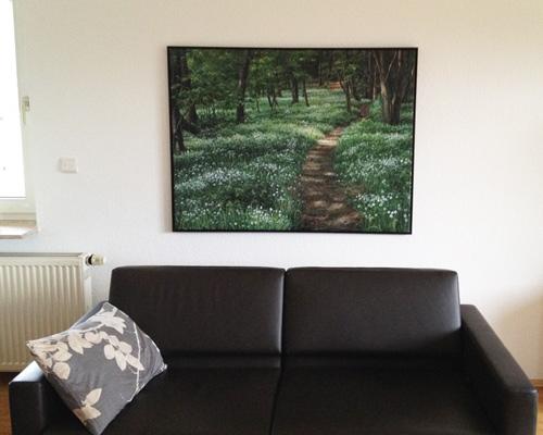 Landschaftsmalerei mit Baeumen