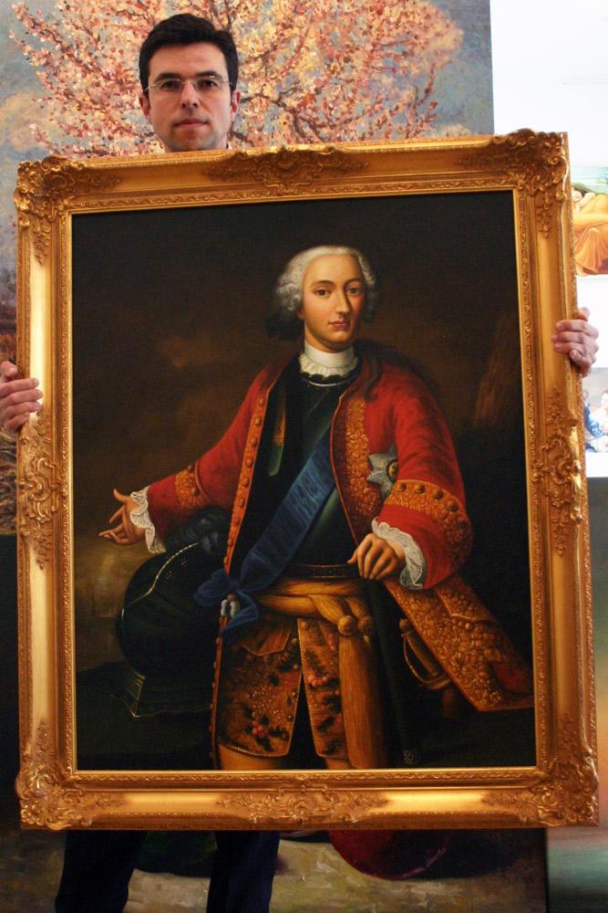 Klassisches Herscherportrait in Öl kaufen