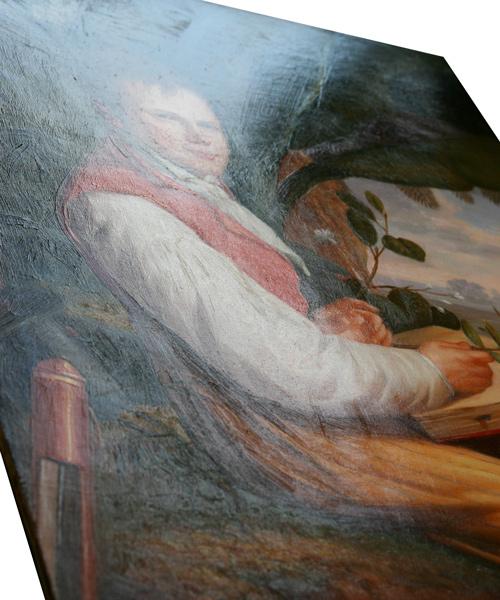 Gemälde mit von Hand aufgetragenem Glanzfirnis