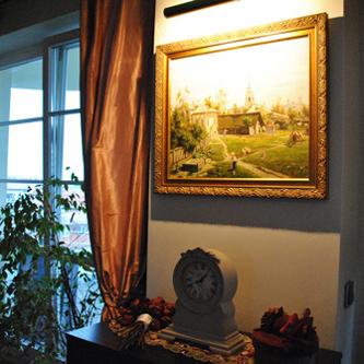 Kundenphoto unserer klassischen Gemäldekopie einer Landschaft in Moskau
