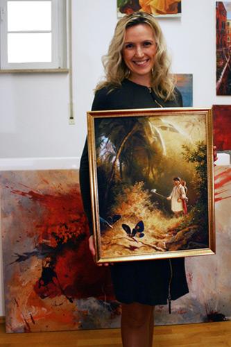 Spitzweg Gemäldekopie in Öl auf Leinwand
