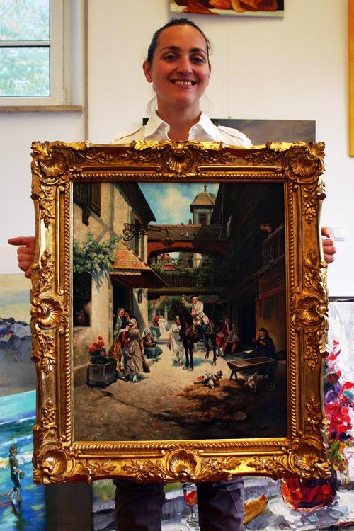 Gemäldekopie im Prunkrahmen kaufen
