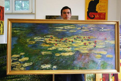 Impressionismus Wasserlilien nach Monet