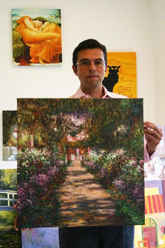 Impressionistisches Monet Aufsteigender Weg
