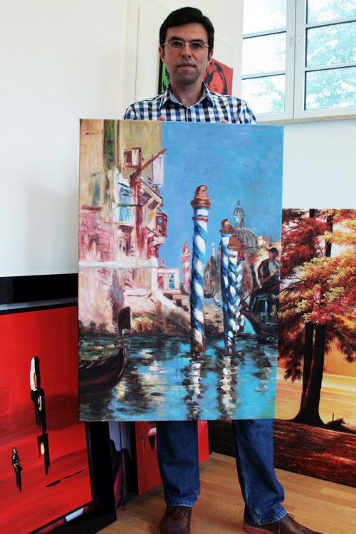 Venedig Gemälde im Stile des Impressionismus