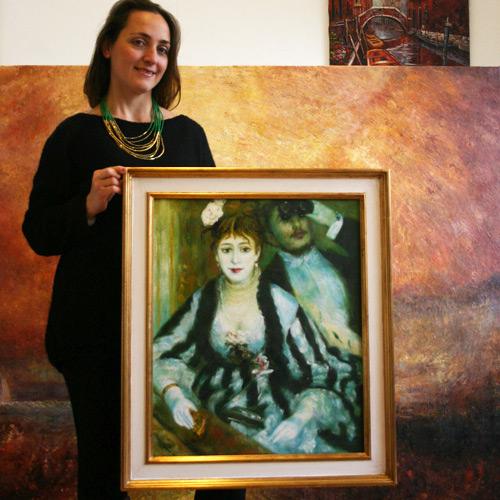 Gemälde nach Renoir, In der Oper