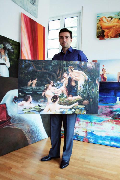 Gemälde in Öl auf Leinwand im klassischen Stil