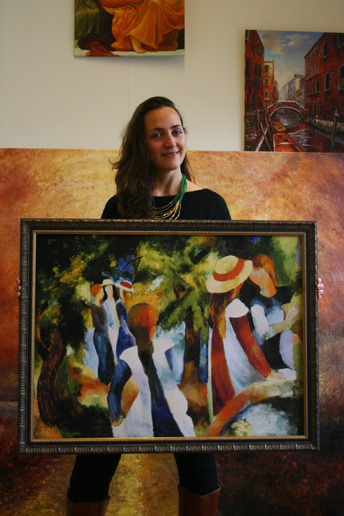Expressionistisches Wandbild