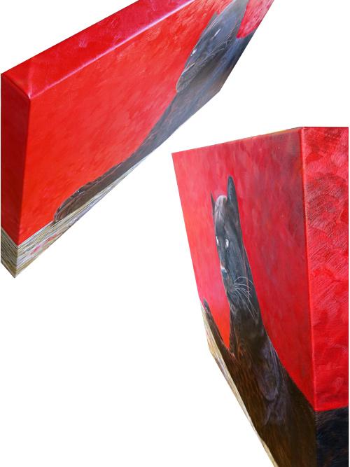 Moderne Auftragsmalerei auf 4 cm starkem Keilrahmen