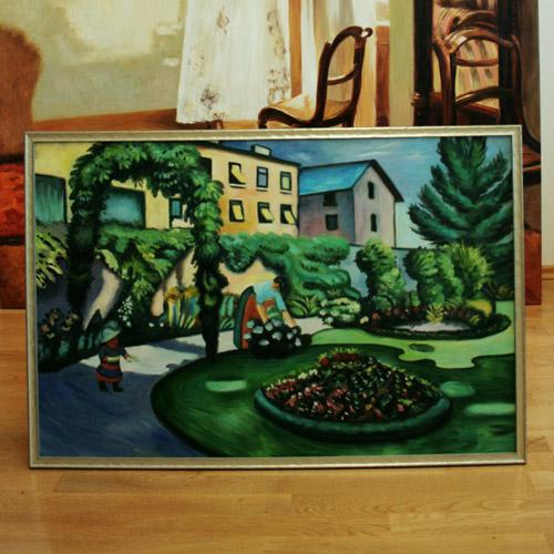 Gartenmotiv nach Franz Marc
