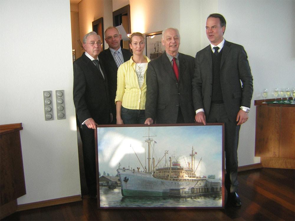 Maritimes Auftragsgemälde für eine Reederei