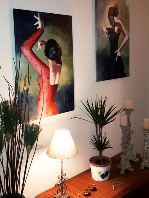 Moderne Oelbilder mit Flamenco Motiven