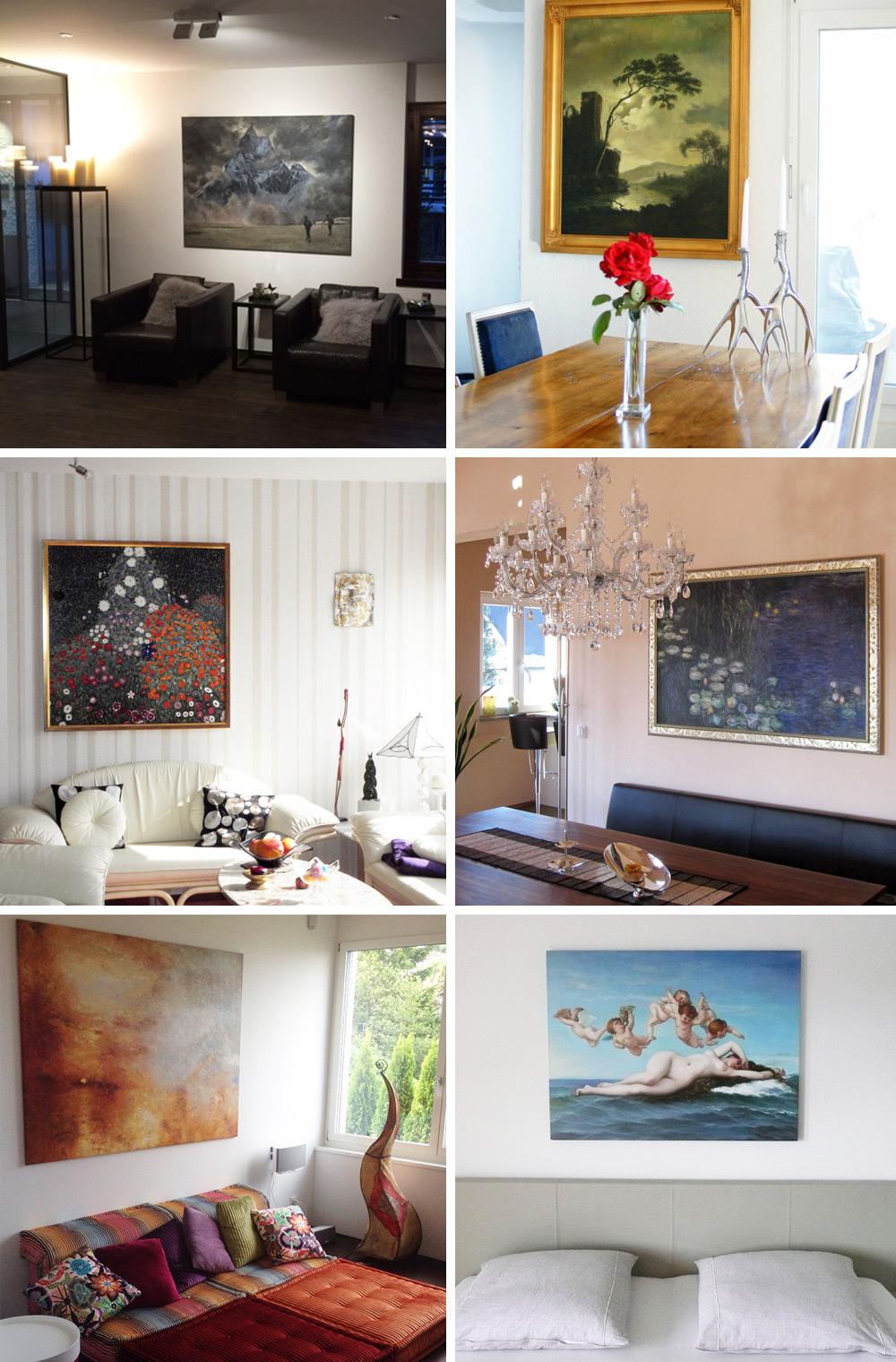 Kundenphotos von Wandbildern mit Motiven der Klassischen Moderne