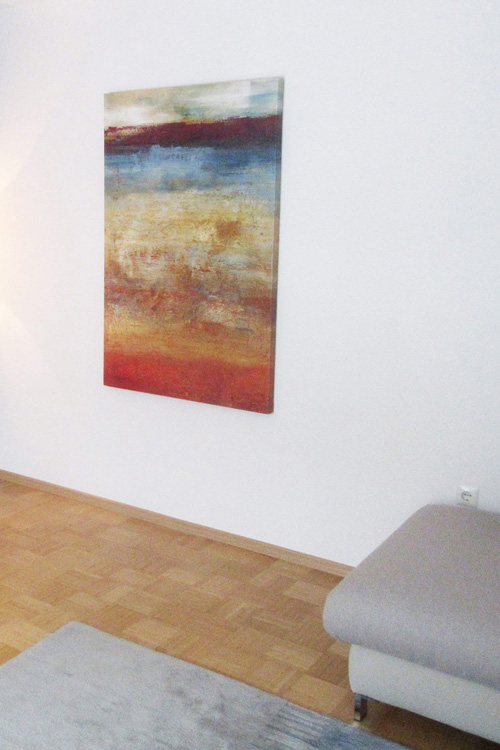 Modernes Wandbild mit abstraktem Motiv