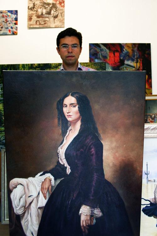 Weibliches klassisches Gemälde