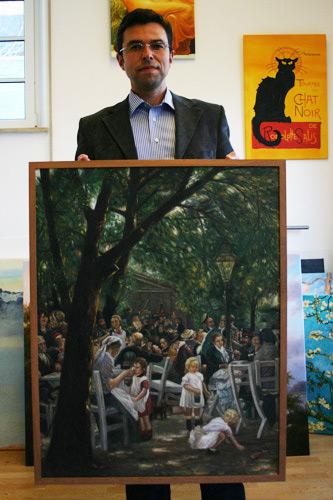 Liebermann Biergarten in München Gemäldekopie kaufen