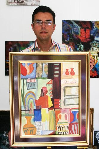 Macke Gemaeldekopie im expressionistischen Stil