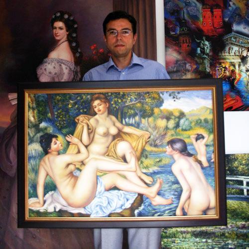 Renoir Gemaelde in Oel auf Leinwand