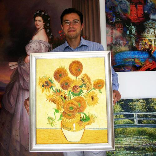 Blumenbilder handgemalt in Öl auf Leinwand