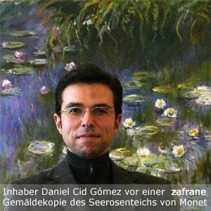 Ölgemälde Impressionismus Daniel Cid Gomez, Inhaber von zafrane München