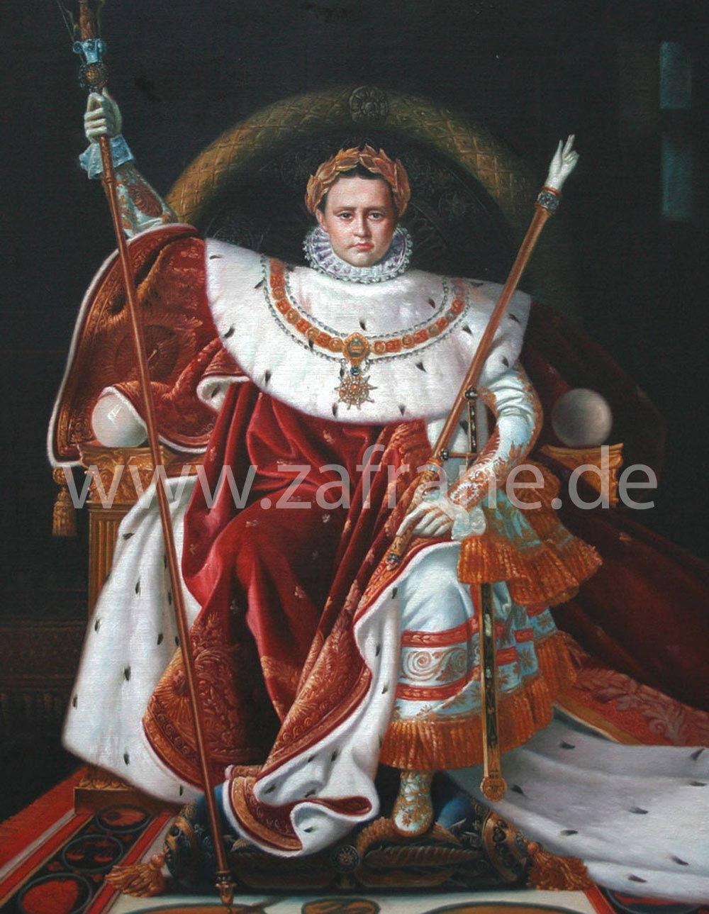 Herrscherportraits Ölbilder kaufen zafrane München