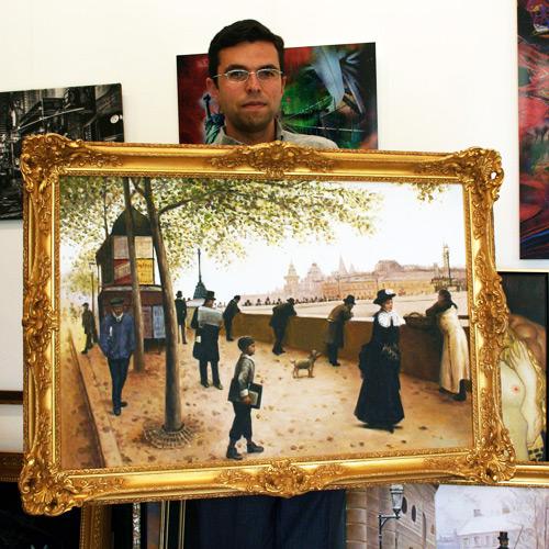 Klassisches Gemälde mit Paris Motiv kaufen