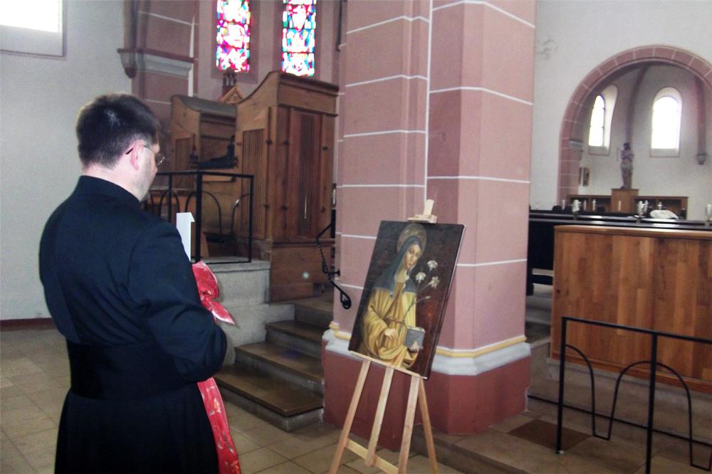 Sakrale Kunst für eine Kirche, Die Heilige Klara von Assisi
