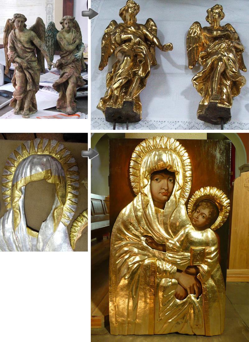 Restaurierung von sakraler Kunst und Vergoldungsarbeiten