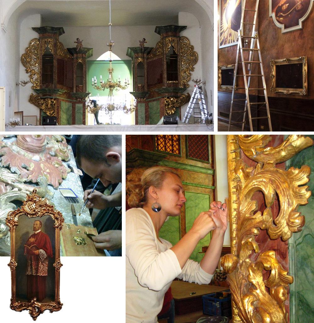 Restauration von religiöser Kunst in Kirchen