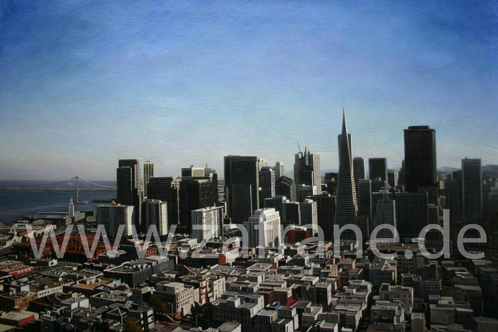 San Francisco Ansicht als handgemaltes Ölbild