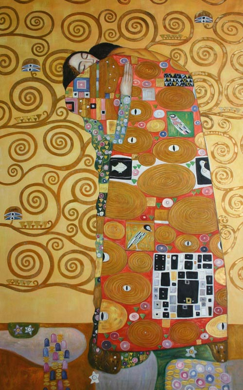 Gustav Klimt Ölgemälde Erfüllung